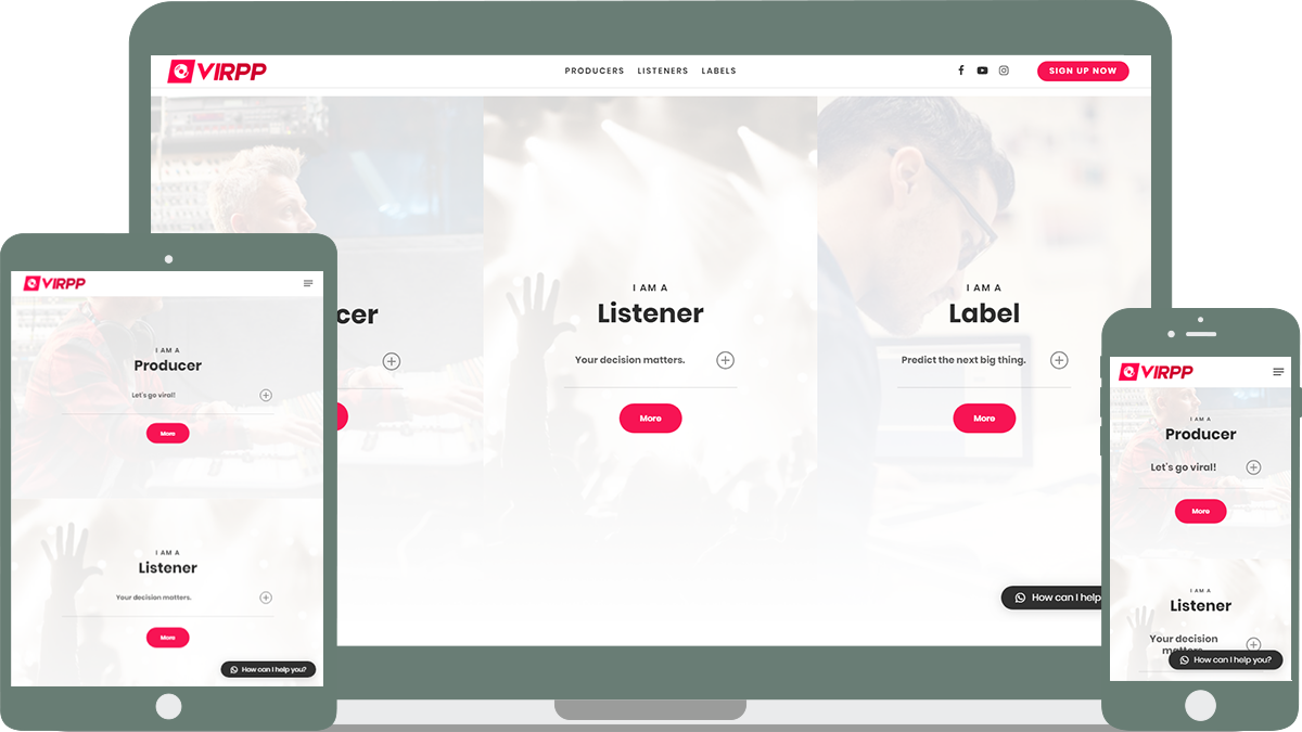 Virpp Music platform Sedna Software Roosendaal Developement