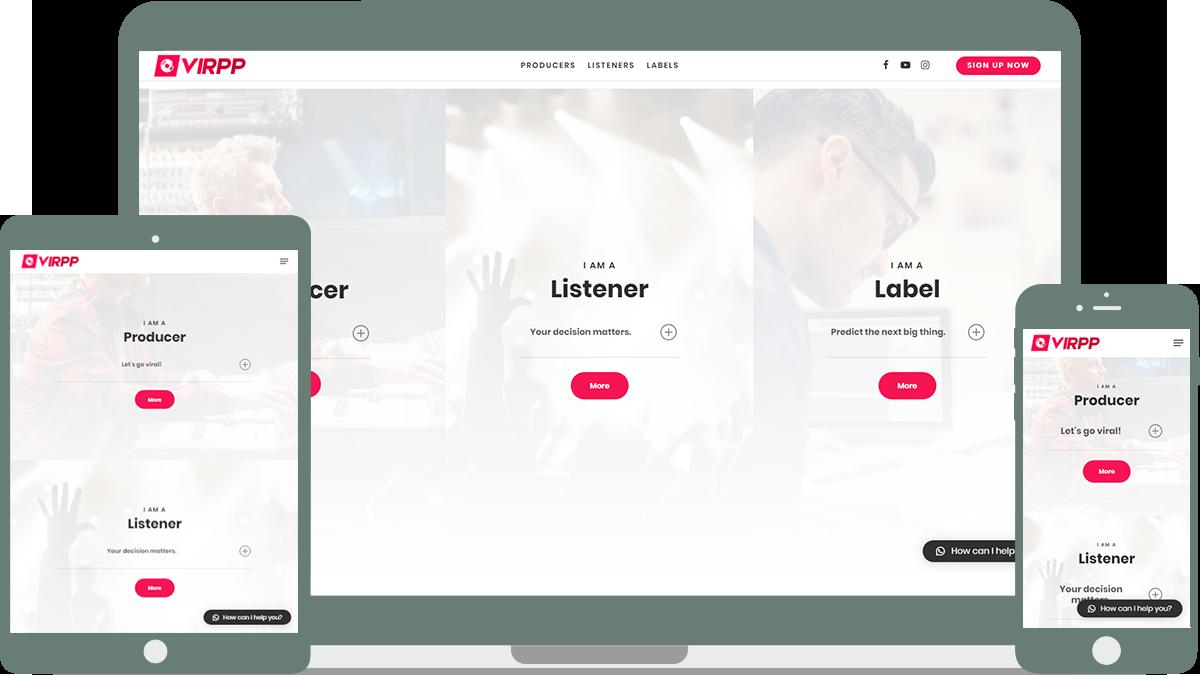 Virpp Music platform Sedna Software Roosendaal Developement